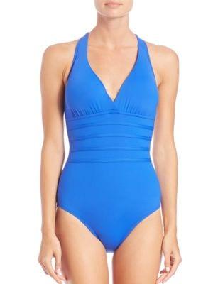One-Piece Core Crossback Swimsuit plus size,  plus size fashion plus size appare