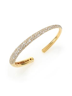 Cobblestone Diamond & 18K Yellow Gold Cuff Bracelet