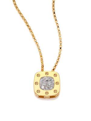 Pois Moi Diamond & 18K Yellow Gold Small Pendant Necklace