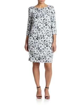 Stretch Jersey Floral T-Shirt Dress