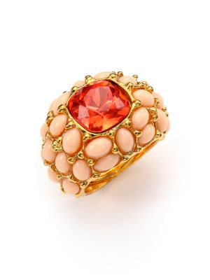 Cabochon Cluster Cocktail Ring