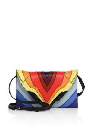 9c06eec243 ELENA GHISELLINI Selina Mignon Multicolor Leather Crossbody Bag ...