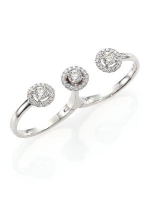 Rock Candy Diamond & 18K White Gold Sugar Multi-Finger Ring