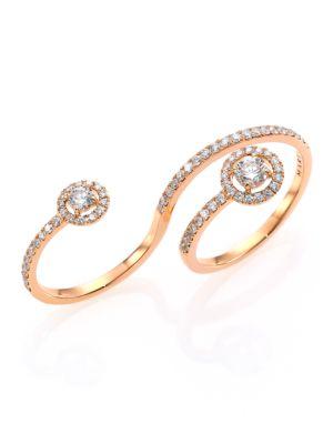 Fifi Diamond & 18K Rose Gold Multi-Finger Ring