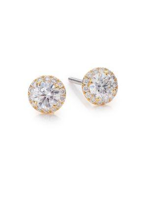 Fifi Diamond & 18K Yellow Gold Femme Super Stud Earrings