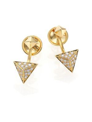 Astrid Diamond & 18K Yellow Gold Ear Jacket & Stud Earrings Set
