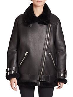 Women's Apparel - Jackets & Vests - Leather & Faux Leather - Saks.com