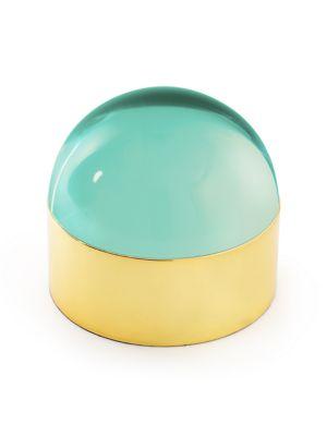 Globo Polished Brass Box