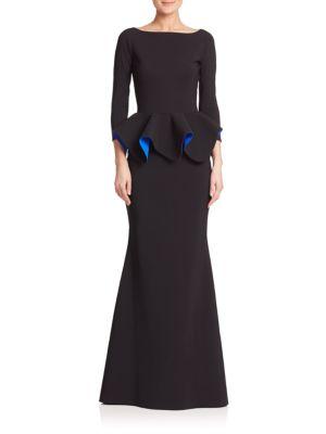 Eden Ruffle Peplum Gown
