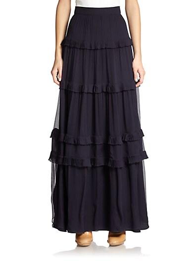 Silk Crepon Maxi Skirt $2,336.94 AT vintagedancer.com