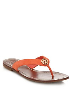 3d4d54bf2 Tory Burch Thora Suede Logo Thong Sandals from Saks Fifth Avenue ...