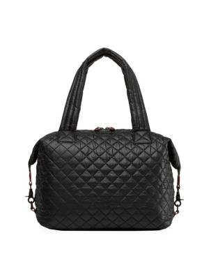 Sutton Large Quilted Nylon Tote