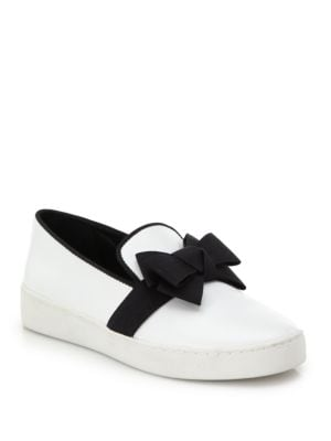Val Bow Patent Leather Skate Sneakers