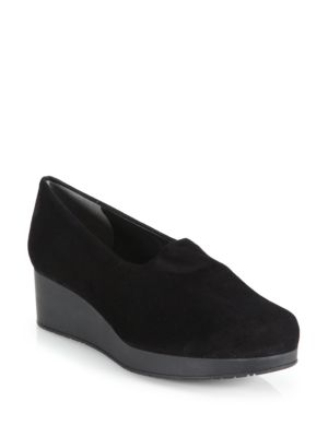 Nalo Suede Wedge Loafers