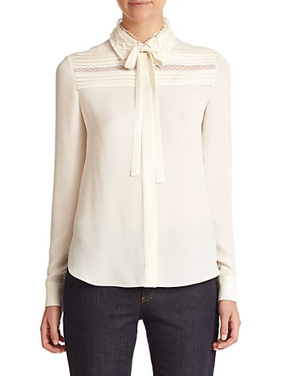 Silk Tie-Front Blouse $1,575.19 AT vintagedancer.com