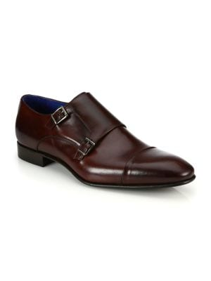 COLLECTION Double Monk-Strap Leather Shoes