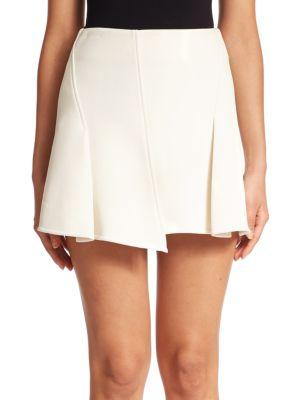 Paneled Mini Skirt