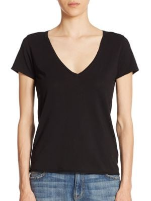 Noemie Cotton V-Neck Tee by Feel The Piece