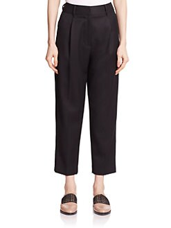 3.1 Phillip Lim - Pleat-Front Worsted Wool Carrot Pants