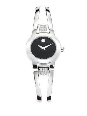 MOVADO Amorosa Diamond & Stainless Steel Bracelet Watch