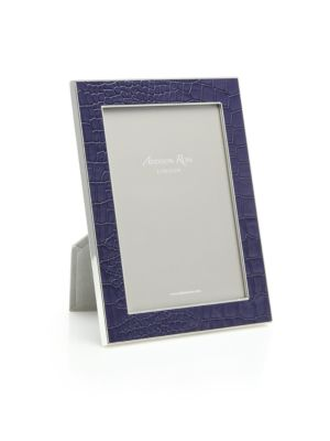 Croc-Embossed Photo Frame