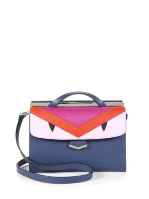 DemiJour Small Monster Saffiano Leather Crossbody Bag