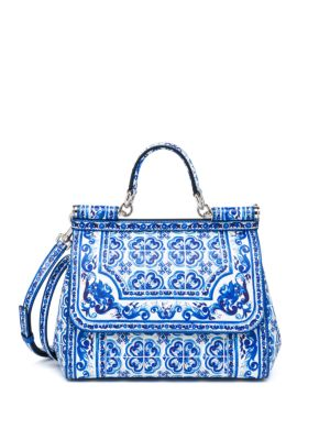 Sicily Medium Italian Tile Textured Leather Top-Handle Satchel