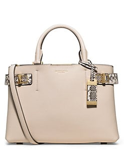 3174e6b930d8 Michael Kors Collection Bette Medium Leather & Snakeskin Satchel