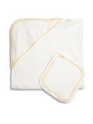 Baby's Ric-Rac Towel & Wash Cloth Set