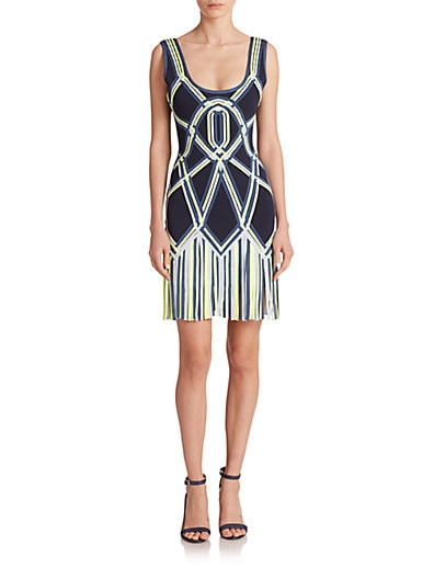 Charolette Fringed Bodycon Dress $1,094.47 AT vintagedancer.com
