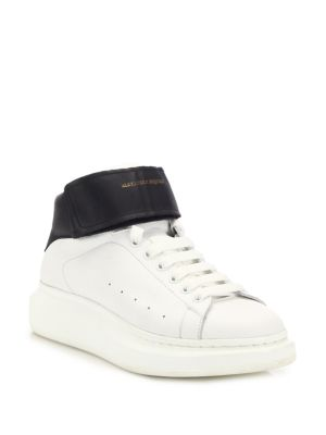 Lift Ankle Strap Leather Sneakers