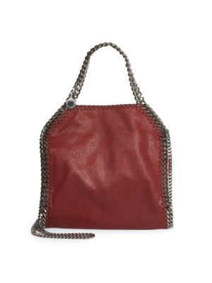 Falabella Tiny Metallic Faux Suede Tote