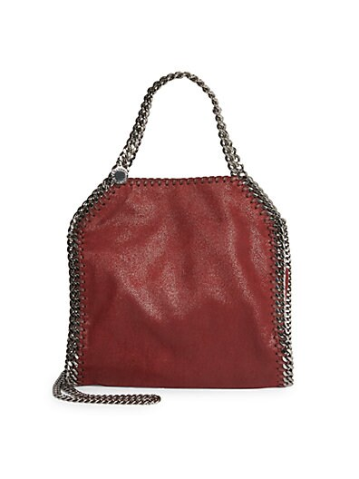 Stella McCartney Falabella Tiny Metallic Faux Suede Tote