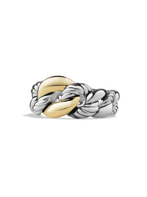 Belmont Curb Link Ring with Gold