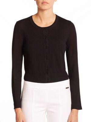 Merino Wool Cropped Cardigan