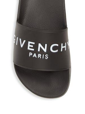 GIVENCHY 20Mm Logo Embossed Rubber Slide Sandals, Black