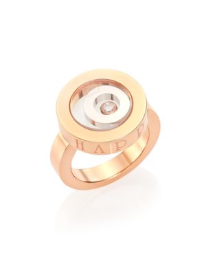 Happy Spirit Diamond, 18K Rose & White Gold Ring