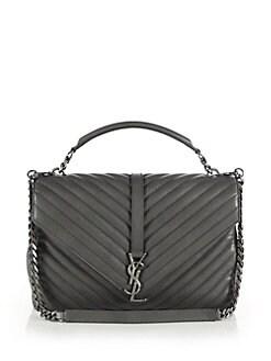 Saint Laurent - Saint Laurent Monogram Matelasse Leather Shoulder Bag
