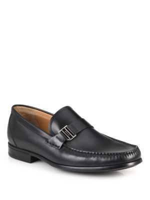 Side-Bit Leather Loafers