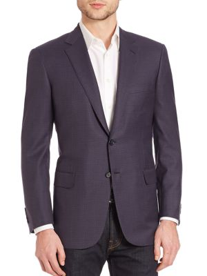 BRIONI Two-Button Check Sportcoat