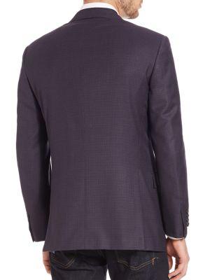 BRIONI Two-Button Check Sportcoat