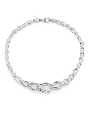 Bamboo Sterling Silver Chain Necklace