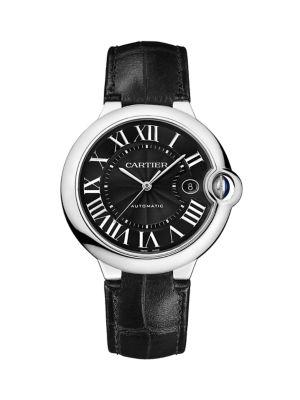Ballon Bleu de Cartier Stainless Steel & Alligator Automatic Strap Watch