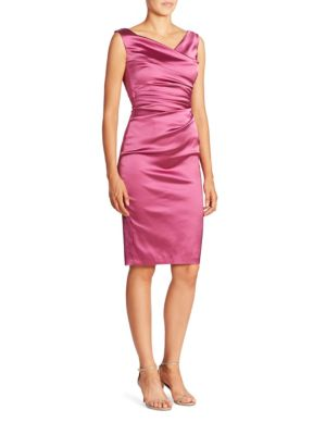 Ruched Satin Sheath