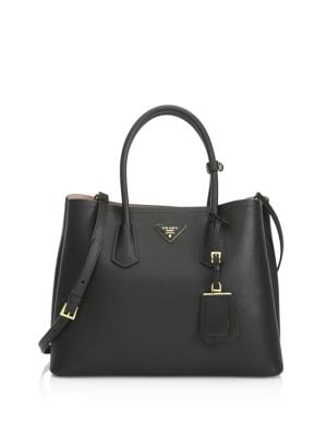 Saffiano Cuir Large Double Bag