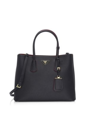LARGE SAFFIANO LEATHER SATCHEL