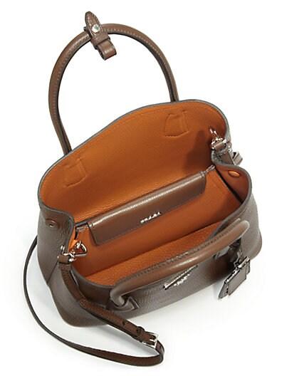 imitation prada handbags - prada daino small double bag, suede prada bag