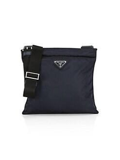 프라다 Prada Small Nylon Crossbody Bag,Black