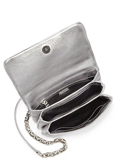 PRADA Nappa Gaufre Metallic Shoulder Bag