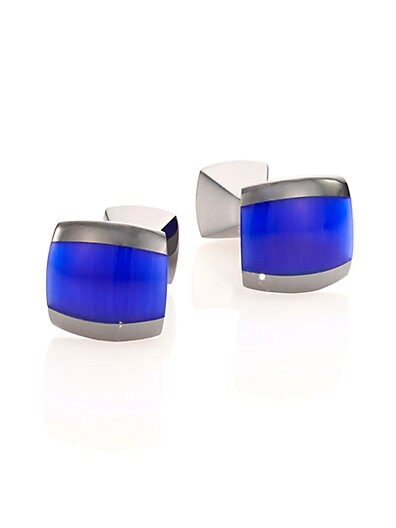Fibre Optic Glass Cuff Links